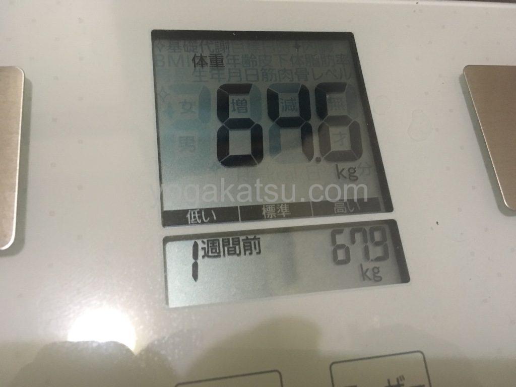 ホットヨガ1週間後の体重の変化や効果