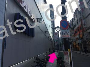 ホットヨガLAVA(ラバ)新宿新都心店のアクセス5