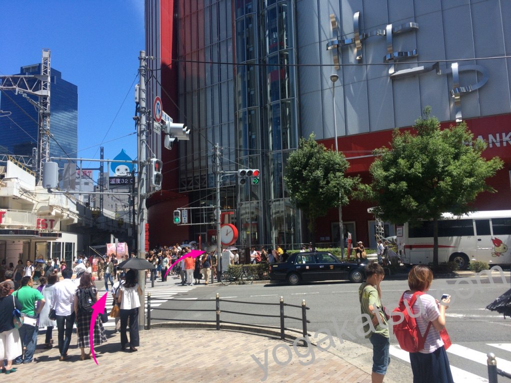 ホットヨガスタジオLAVA梅田店のアクセスに関する口コミ2
