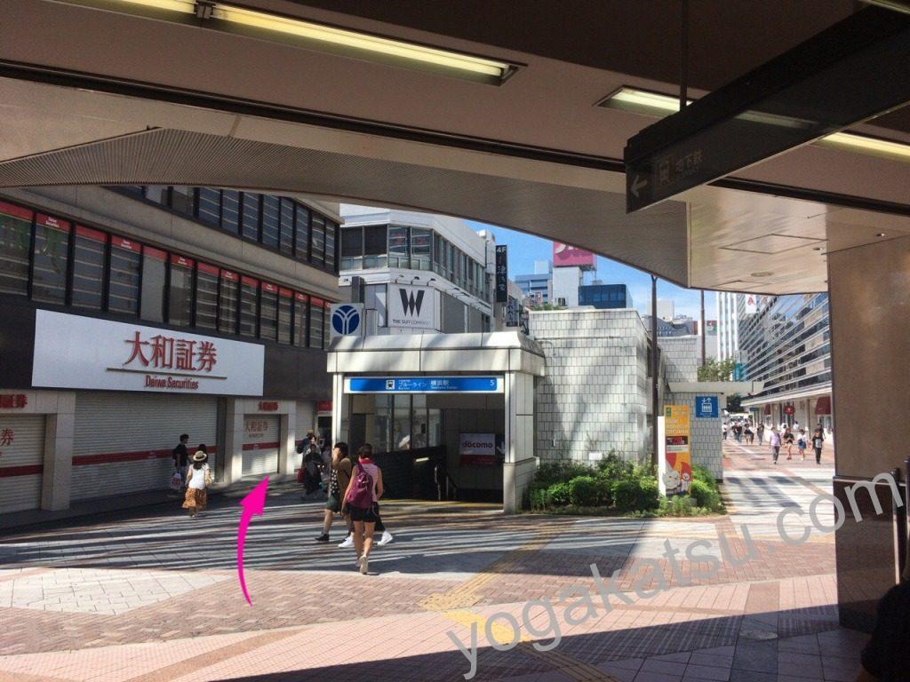 ホットヨガLAVA(ラバ)横浜西口店までのアクセスに関する口コミ3