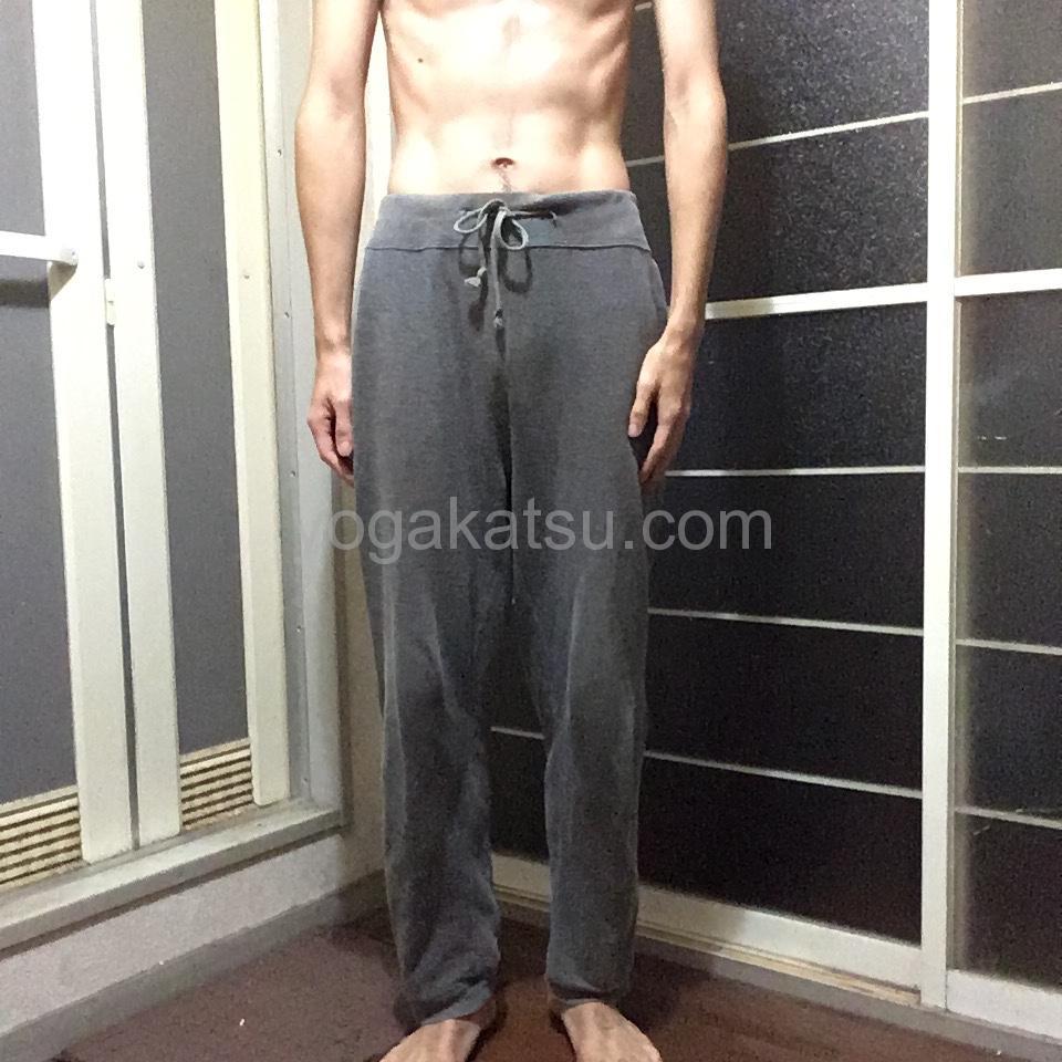 男性がホットヨガLAVAに4ヶ月通った後のダイエット効果と体つき